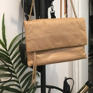 Lanvin Sugar Shoulder Bag in light cream / tan